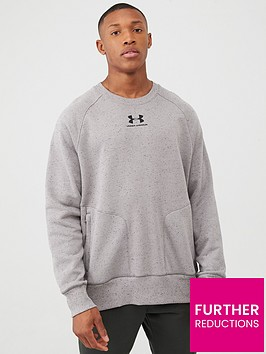 under-armour-speckled-fleece-crew-sweat-greenblack