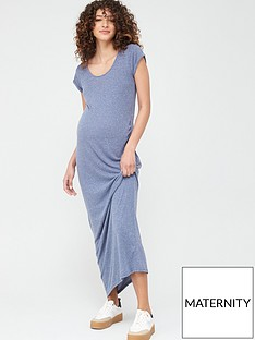 mama-licious-maternity-nella-jersey-maxi-dress-blue