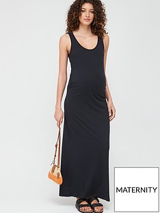 mama-licious-maternity-lea-organic-maxi-dress-black