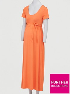 mama-licious-maternity-jersey-maxi-dress-with-tie-belt-orangenbsp