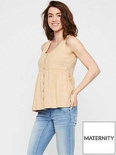 mama-licious-maternitynursing-jersey-button-down-top-stone