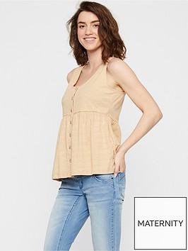 mama-licious-maternitynursing-jersey-button-down-top-stone