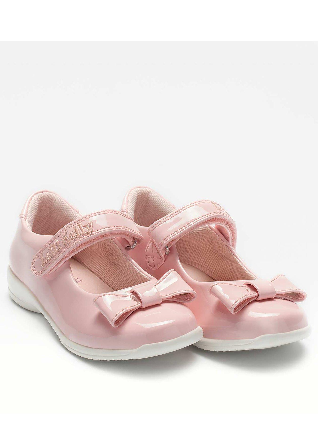GIRLS PINK LACE SHOE-CRIB PRAM FIRST WALKERS BUTTERFLY DIMANATES-DRESS SHOES