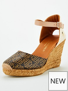 kurt-geiger-london-monty-monogram-wedge-sandal-brown