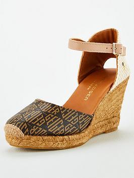 kurt-geiger-london-monty-monogram-wedge-sandal-brown