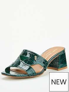 kurt-geiger-london-odina-block-heeled-mule-dark-green