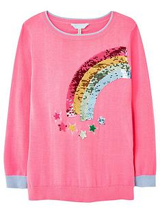 joules-girls-meryl-rainbow-knitted-jumper-pink