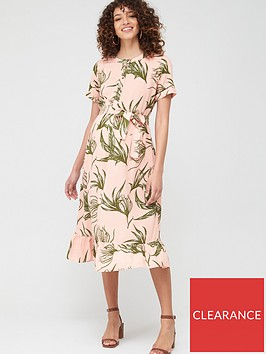 mama-licious-maternitynursing-darling-floral-button-down-midi-dress-pink-green