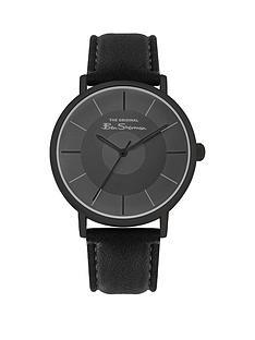 ben-sherman-ben-sherman-black-and-gunmetal-grey-detail-dial-black-leather-strap-mens-watch