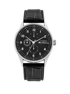 ben-sherman-black-and-silver-detail-multi-dial-black-leather-strap-mens-watch