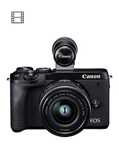 canon-canon-eos-m6-mk-ii-csc-camera-black-with-ef-m-15-45mm-is-stm-lens-amp-evf-dc2nbspviewfinder