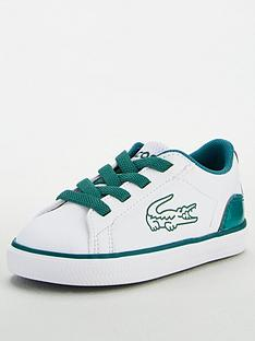 lacoste-infant-boys-lerond-120-lace-up-trainer--nbspwhitegreen