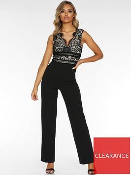 quiz-v-neck-sleeveless-jumpsuit-black