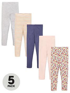 v-by-very-girls-5-pack-floral-leggings-multi