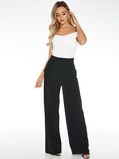 quiz-scuba-crepe-pocket-detail-palazzo-trousers-black