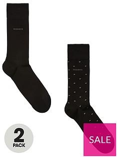 boss-bodywear-2-pack-polka-dot-socks-black