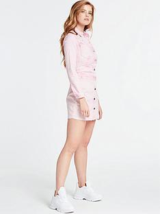 guess-sara-denim-dress-pink