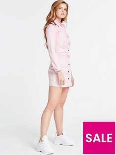guess-sara-denim-dress-pink