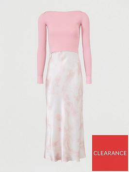 guess-aurelia-2-in-1-tie-dye-slip-dress-pink