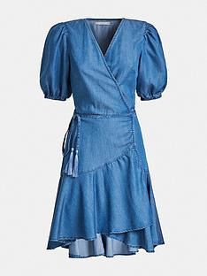 guess-candy-chambray-wrap-dress-blue