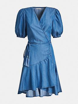 guess-candy-chambray-wrap-dress-blue