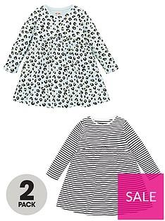 v-by-very-girls-2-pack-stripe-and-animal-smock-dresses-multi