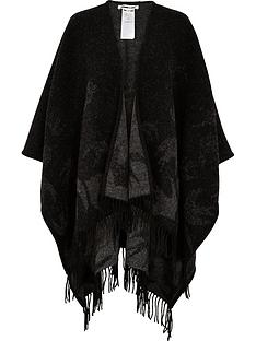 mcq-alexander-mcqueen-swallow-outline-poncho-black