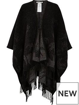 mcq-alexander-mcqueen-swallow-outline-poncho-black