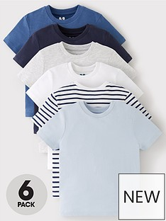 v-by-very-boys-6-pack-short-sleeved-pocket-t-shirts-blue