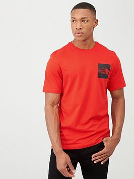 the-north-face-short-sleeve-fine-t-shirt-red