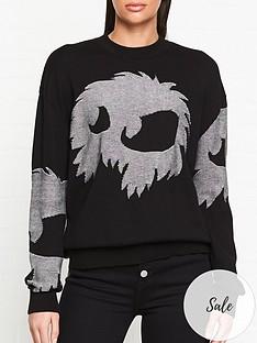 mcq-alexander-mcqueen-knitted-monster-jumper-black