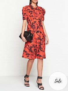 mcq-alexander-mcqueen-satomi-dress-red