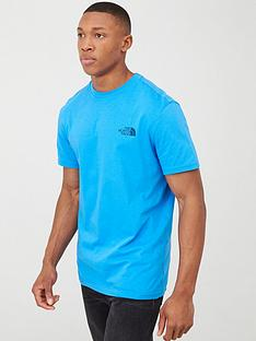 the-north-face-short-sleeve-simple-dome-t-shirt-blue