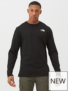 the-north-face-long-sleeve-red-box-t-shirt-blackred