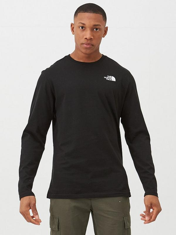 New The North Face Long Sleeve Red Box Tee Men/'s Size XXL T-Shirt