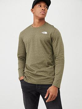 the-north-face-long-sleeve-red-box-t-shirt-olive