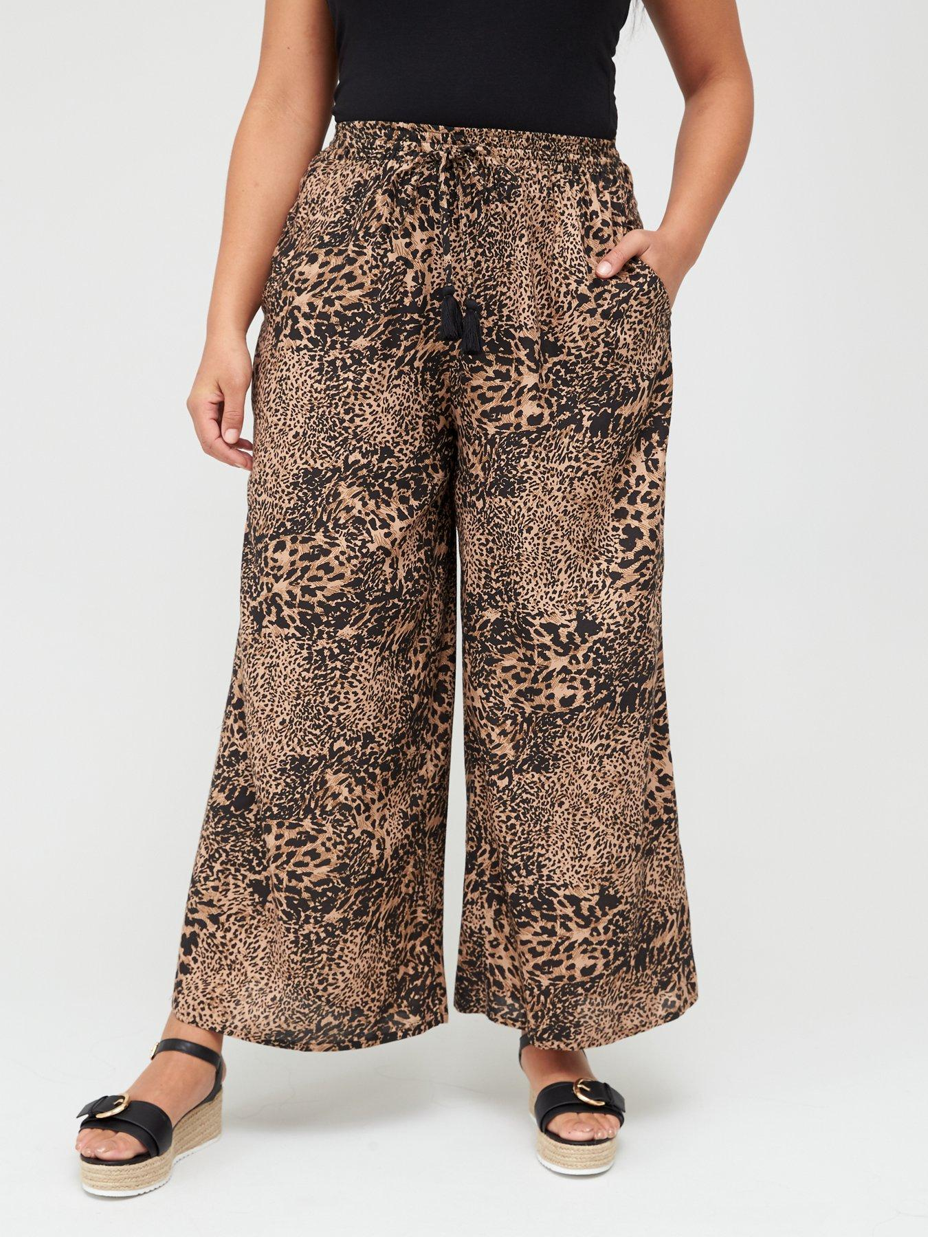 plus sizes too Bright pattern wide leg palazzo trousers