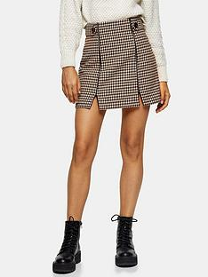 topshop-check-binding-mini-skirt-cream