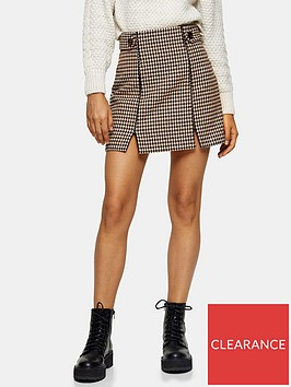 topshop-check-binding-mini-skirt-cream