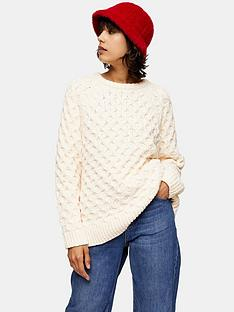 topshop-chenille-honeycomb-jumper-ivory