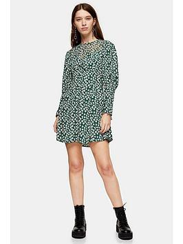 topshop-grunge-twist-mini-dress-green