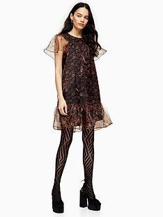 topshop-organza-mini-dress-multi