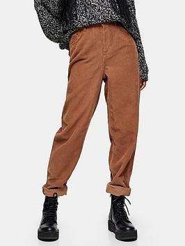 topshop-32-cord-balloon-leg-jeans-brown
