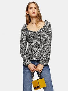 topshop-ditsy-prairie-bow-blouse-black
