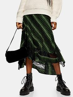 topshop-warped-tiger-lace-midi-skirt-green