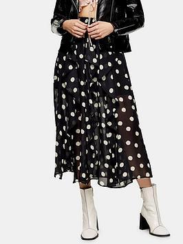 topshop-spot-ruffle-midi-skirt-black