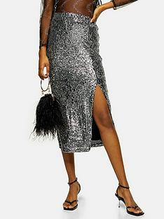 topshop-sequin-midi-skirt-silver