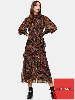topshop-ditsy-print-midi-dress-multi