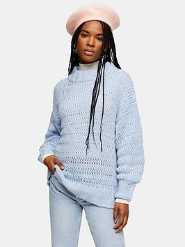 topshop-stitch-oversized-jumper-blue