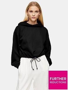 topshop-drawstring-hoody-black